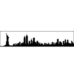 New York City Skyline Silhouette vector image