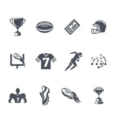 Rugby or american football icons vector image