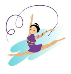 Sports Women Art Gymnastics Workout Exercise vector image