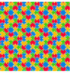 colorful jigsaw seamless pattern vector image