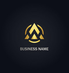 a triangle company business logo vector image