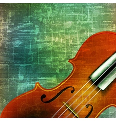Abstract music grunge vintage background violin vector
