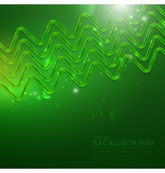 Abstract shiny background with green zigzags vector