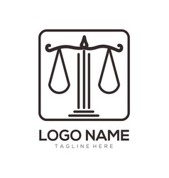 attorney and law logo design and icon vector image