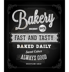 Bakery Advertising on Chalkboard vector