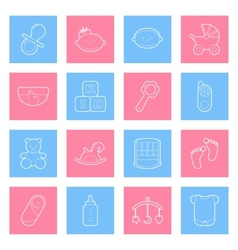 balines icons set vector image