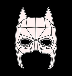 Batman mask black and white symbol triangles vector