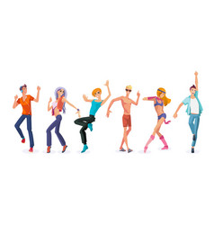 beautiful dancing people in modern dances vector image