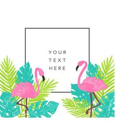 Beautiful tropical banner design vector
