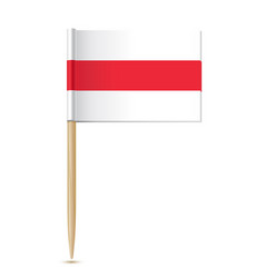 belarus opposition flag white red white isolated vector image