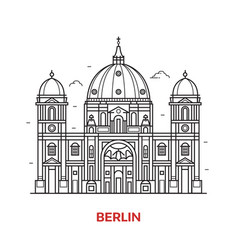 berlin landmark icon vector image