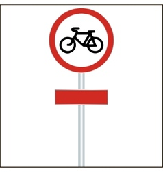 Bike track sign road sign - vector