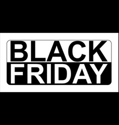 black friday sale banner modern minimal design vector image