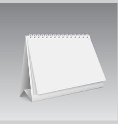 Blank calendar mockup 3d vector