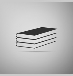 books icon isolated on grey background vector image