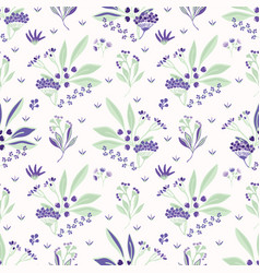 bouquet garni herbs purple and green floral vector image