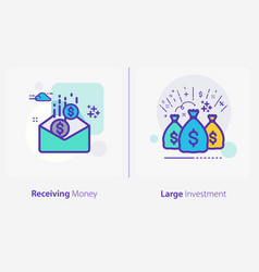 business and finance concept icons receiving vector image