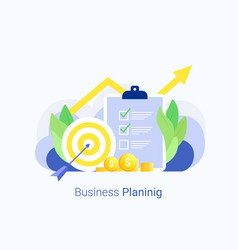 business plan design template vector image