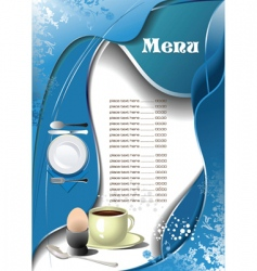 cafe restaurant menu vector image