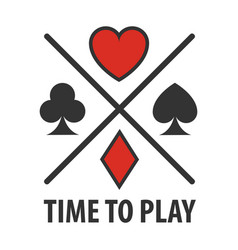Casino poker cards suits symbols template vector