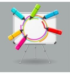Chalkboard and Marker Frame Background vector