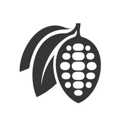 chocolate cocoa beans icon on white background vector image