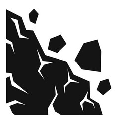 Collapse landslide icon simple style vector