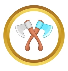 Crossed axes icon vector