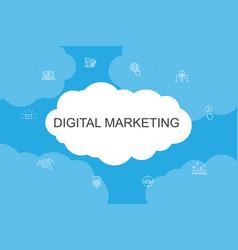 digital marketing infographic cloud design vector image