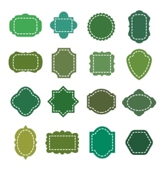 Eco green natural organic product badges vector