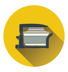 Electric con oven icon vector
