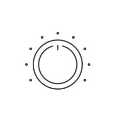 Electronic regulator line outline icon vector