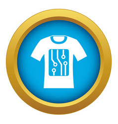 Electronic t-shirt icon blue isolated vector