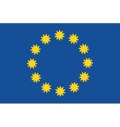 European Union flag with gears instead stars vector