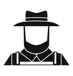 Farmer icon simple style vector