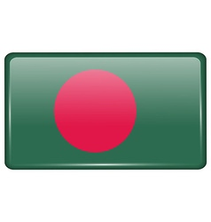 Flags Bangladesh in the form of a magnet on vector