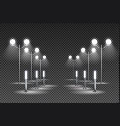 Garden lights transparent background vector