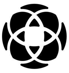 Geometric circular - symmetric element symbol for vector