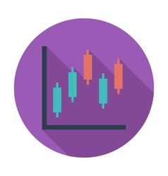 Graph flat single icon vector image