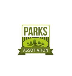 Green garden park trees eco icon vector
