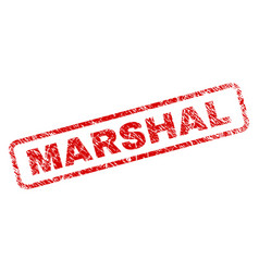 Grunge marshal rounded rectangle stamp vector