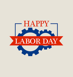 happy national labor day logo flat style vector image