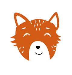 Head of cute animal vector
