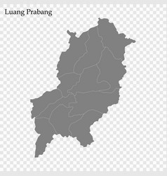 High quality map province laos vector