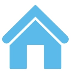 Home flat blue color icon vector