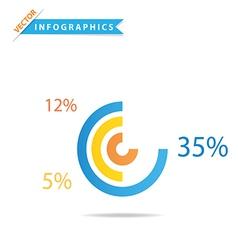 Infographics Pie Chart vector image