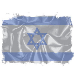 Israel silk flag vector