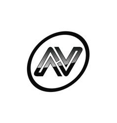 letter n sport modern vector image