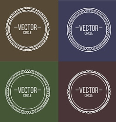 Linear frames with text set Outline design for vector image