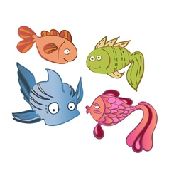Little emotional fish vector